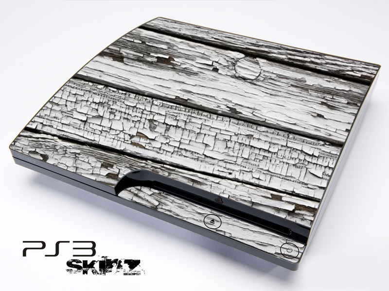 White Aged Wood Skin for the Playstation 3