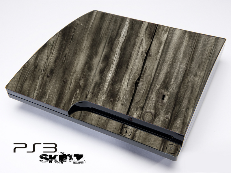 Dark Wood Planked Skin for the Playstation 3
