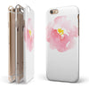 Pale Pink Watecolor  Hibiscus iPhone 6/6s or 6/6s Plus 2-Piece Hybrid INK-Fuzed Case