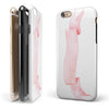 Pale Pink Watercolor Ribbon iPhone 6/6s or 6/6s Plus 2-Piece Hybrid INK-Fuzed Case
