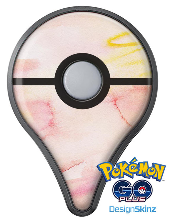 Peach Absorbed Watercolor Texture Pokémon GO Plus Vinyl Protective Decal Skin Kit