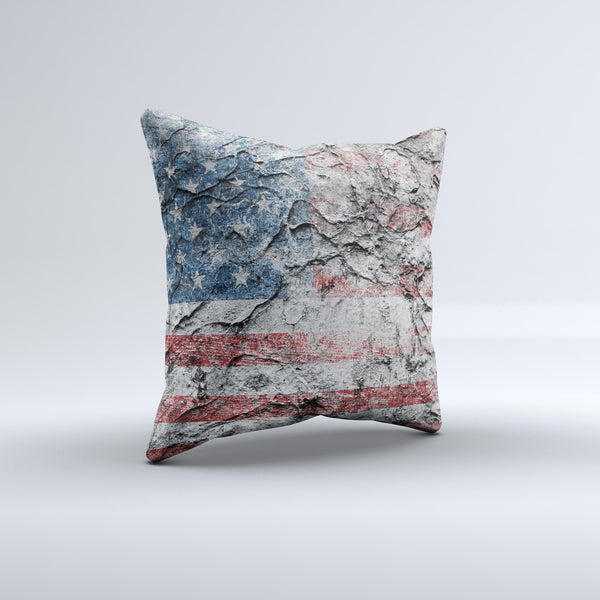 Aged And Wrinkled American Flag InkFuzed Decorative Throw Pillow Gorgeous American Flag Decorative Throw Pillow