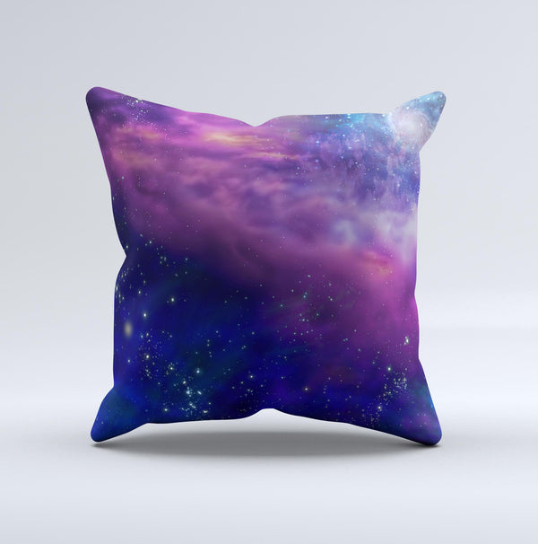 The Here's to Another Space Adventure ink-Fuzed Decorative Throw Pillow