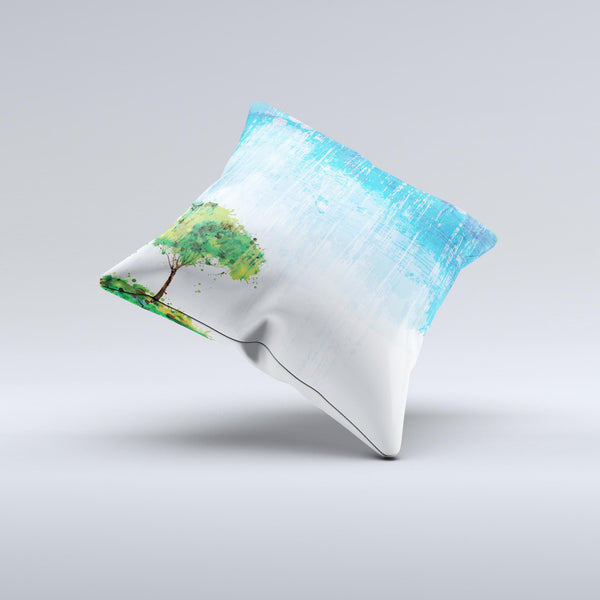 The Individual Tree Splatter ink-Fuzed Decorative Throw Pillow