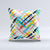 The Intersecting Vector Bright Strokes ink-Fuzed Decorative Throw Pillow