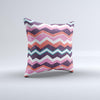 The Jagged Colorful Chevron ink-Fuzed Decorative Throw Pillow