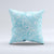 The Light Blue Paisley Floral ink-Fuzed Decorative Throw Pillow