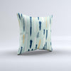 The Neutral Brush Strokes ink-Fuzed Decorative Throw Pillow