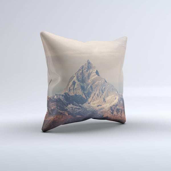The Paramountain Top ink-Fuzed Decorative Throw Pillow