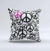 The Peace Collage ink-Fuzed Decorative Throw Pillow