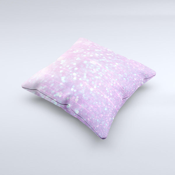 The Pink Unfocused Orbs of Light ink-Fuzed Decorative Throw Pillow