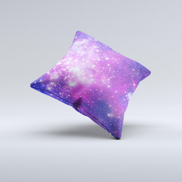 The Purple & Pink Space ink-Fuzed Decorative Throw Pillow