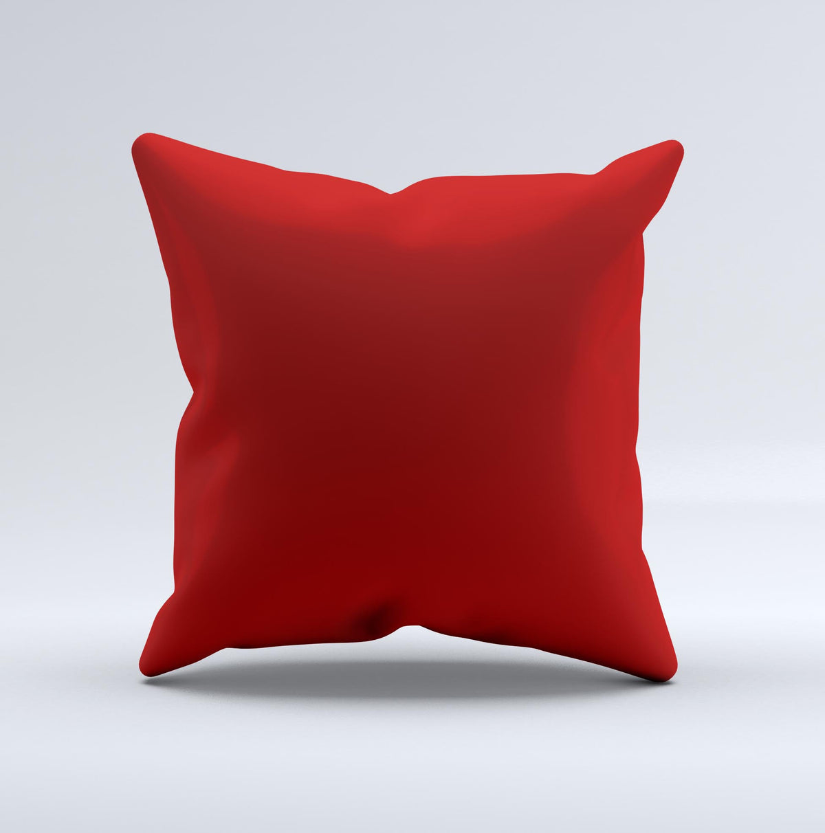 Dark Red Throw Pillows.Solid Dark Red Ink Fuzed Decorative Throw Pillow