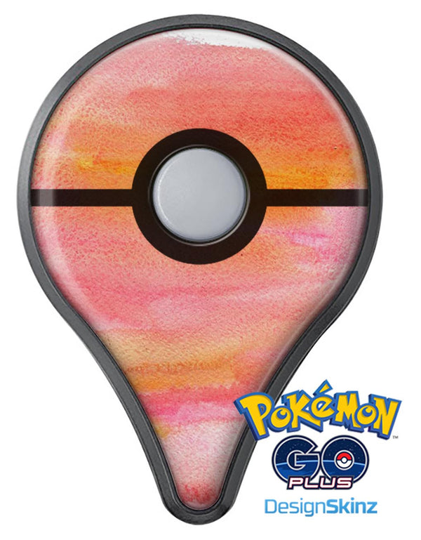 Pink 1973 Absorbed Watercolor Texture Pokémon GO Plus Vinyl Protective Decal Skin Kit
