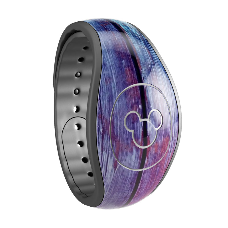 Pink & Blue Dyed Wood - Decal Skin Wrap Kit for the Disney Magic Band