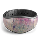 Pink & Blue Grunge Wood Planks - Decal Skin Wrap Kit for the Disney Magic Band