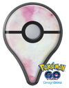 Pink 922 Absorbed Watercolor Texture Pokémon GO Plus Vinyl Protective Decal Skin Kit