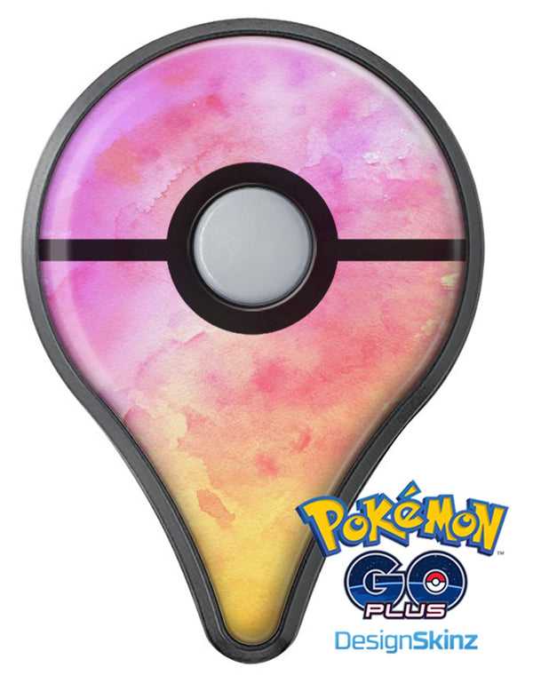 Pink 9739 Absorbed Watercolor Texture Pokémon GO Plus Vinyl Protective Decal Skin Kit
