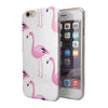 Pink All Over Flamingos iPhone 6/6s or 6/6s Plus 2-Piece Hybrid INK-Fuzed Case