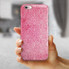 Pink All Over Pattern Of Luxury iPhone 6/6s or 6/6s Plus 2-Piece Hybrid INK-Fuzed Case
