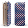 Pink Diamonds All Over Navy Pattern iPhone 6/6s or 6/6s Plus 2-Piece Hybrid INK-Fuzed Case