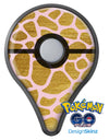 Pink Gold Flaked Animal v7 Pokémon GO Plus Vinyl Protective Decal Skin Kit