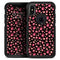 Pink Paw Prints on Black - Skin Kit for the iPhone OtterBox Cases