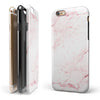 Pink Red Marble Surface iPhone 6/6s or 6/6s Plus 2-Piece Hybrid INK-Fuzed Case