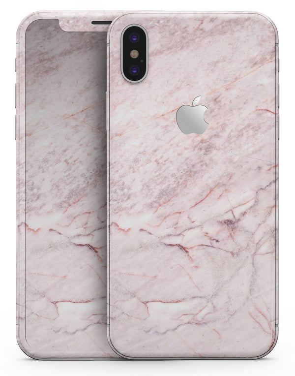 Pink Slate Marble Surface V7 - iPhone X Skin-Kit