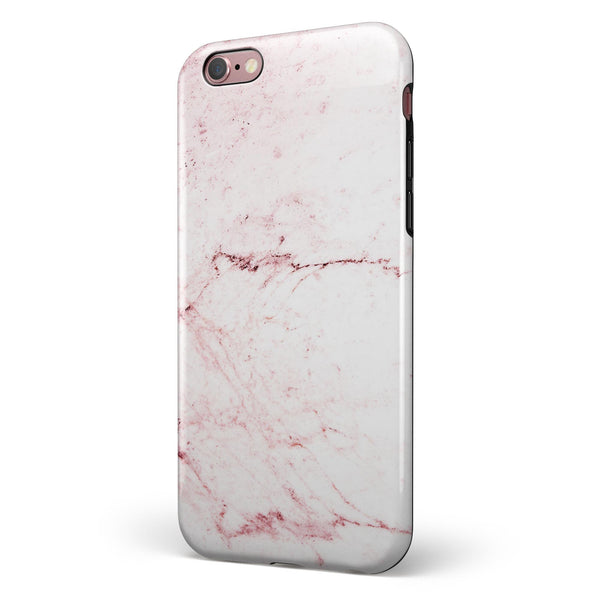 Pink Splattered Marble Surface iPhone 6/6s or 6/6s Plus 2-Piece Hybrid INK-Fuzed Case