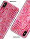 Pink Watercolor Woodgrain - iPhone X Clipit Case