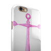 Pink Watercolored Heart Anchor iPhone 6/6s or 6/6s Plus 2-Piece Hybrid INK-Fuzed Case