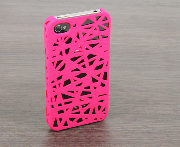 The Pink Web Case for the iPhone 4/4s or 5