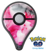 Pink and Black Absorbed Watercolor Texture Pokémon GO Plus Vinyl Protective Decal Skin Kit