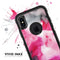 Pink and Black Absorbed Watercolor Texture - Skin Kit for the iPhone OtterBox Cases