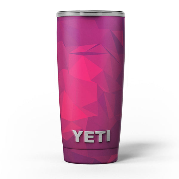 Pink_and_Bright_Red_Abstract_Triangles_-_Yeti_Rambler_Skin_Kit_-_20oz_-_V5.jpg