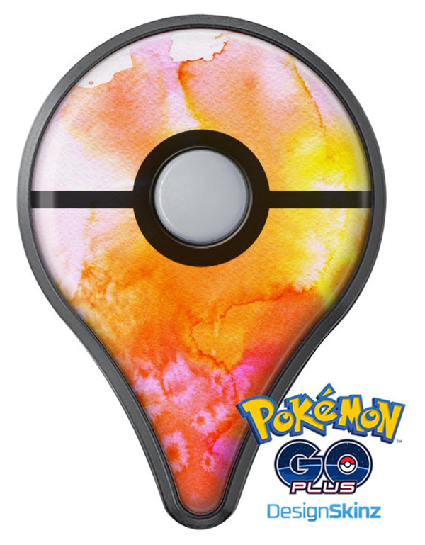 Pink and Orange Absorbed Watercolor Texture Pokémon GO Plus Vinyl Protective Decal Skin Kit