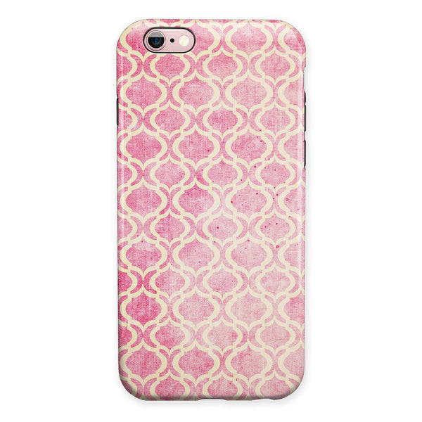 Pink and Yellow Bubble Morrocan Pattern iPhone 6/6s or 6/6s Plus 2-Piece Hybrid INK-Fuzed Case