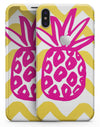 Pink and Yellow Pineapple - iPhone X Skin-Kit