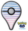 Pink to Blue WaterColor Ombre Stripes Pokémon GO Plus Vinyl Protective Decal Skin Kit