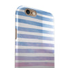 Pink to Blue WaterColor Ombre Stripes iPhone 6/6s or 6/6s Plus 2-Piece Hybrid INK-Fuzed Case