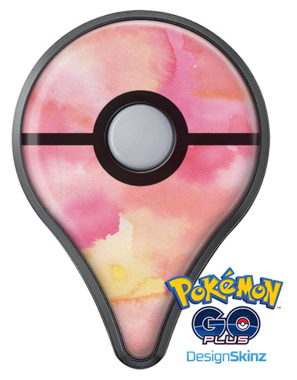 Pinkish 4122 Absorbed Watercolor Texture Pokémon GO Plus Vinyl Protective Decal Skin Kit