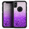 Purple & Silver Glimmer Fade - Skin Kit for the iPhone OtterBox Cases