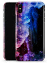 Purple Blue and Pink Cloud Galaxy - iPhone X Clipit Case