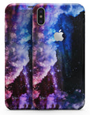 Purple Blue and Pink Cloud Galaxy - iPhone X Skin-Kit