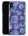 Purple Floral Succulents - iPhone X Clipit Case