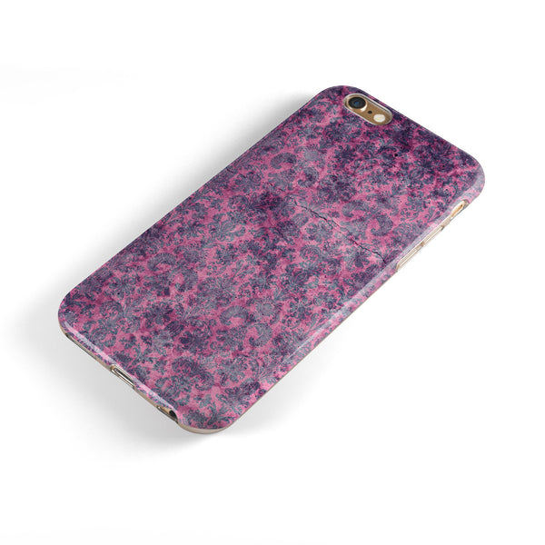Purple Grungy Royal Pattern iPhone 6/6s or 6/6s Plus 2-Piece Hybrid INK-Fuzed Case