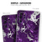 Purple Marble & Digital Silver Foil V2 2 - Skin-Kit for the Samsung Galaxy S-Series S20, S20 Plus, S20 Ultra , S10 & others (All Galaxy Devices Available)