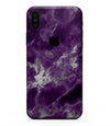 Purple Marble & Digital Silver Foil V5 - iPhone XS MAX, XS/X, 8/8+, 7/7+, 5/5S/SE Skin-Kit (All iPhones Available)