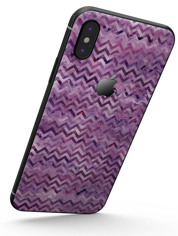 Purple Multi Watercolor Chevron - iPhone X Skin-Kit